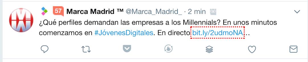 Tweet sin imagen ejemplo