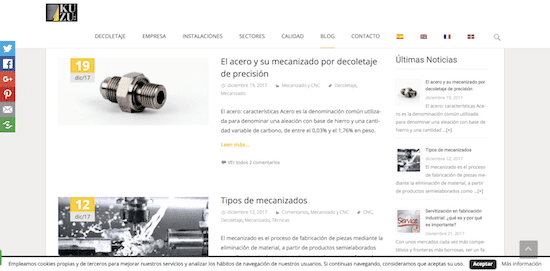 marketing de contenidos en empresas industriales ejemplo blog